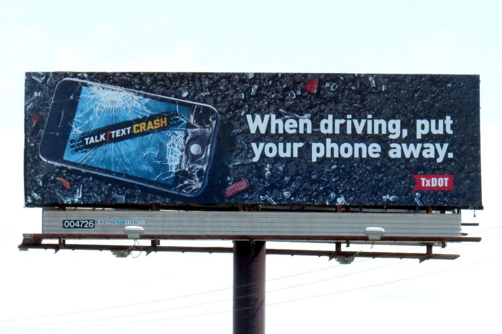 Don't Text and Drive Billboard