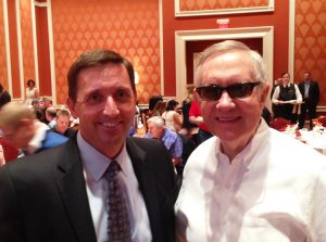 Sen. Reid and Jeff Young of YESCO in Las Vegas