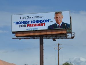 Johnson for President on digital, NM