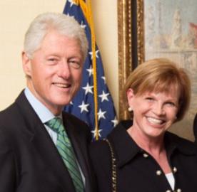 Nancy Fletcher and President Clinton