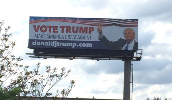 trump billboard in Indiana